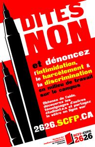 Campagne Dites non et dénoncez le harcèlement et la discrimination