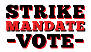 Web site - strike mandate vote title