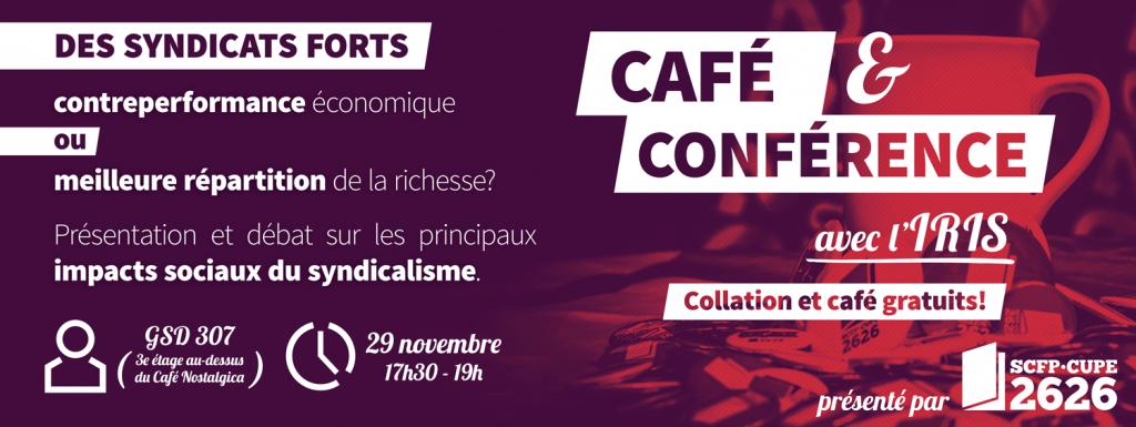 Café et Conférence avec l'IRIS aura lieu le 29 novembre 2017